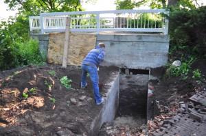 Verwijderen metselwerk deur bunker 2015