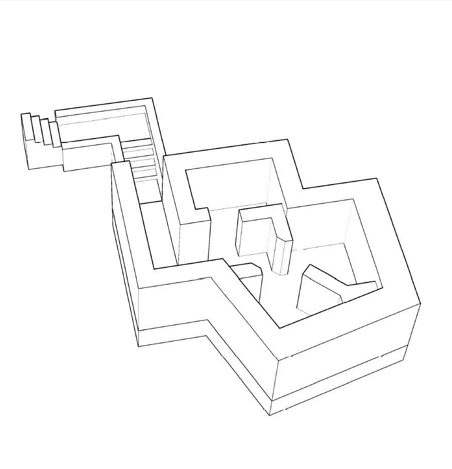 3D schets van de Valkhofbunker
