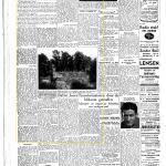 Artikel in de Gelderlander van 24-05-1947 over de herstelde parken in Nijmegen. Benoeming van dichtgemetselde bunker (Noord).